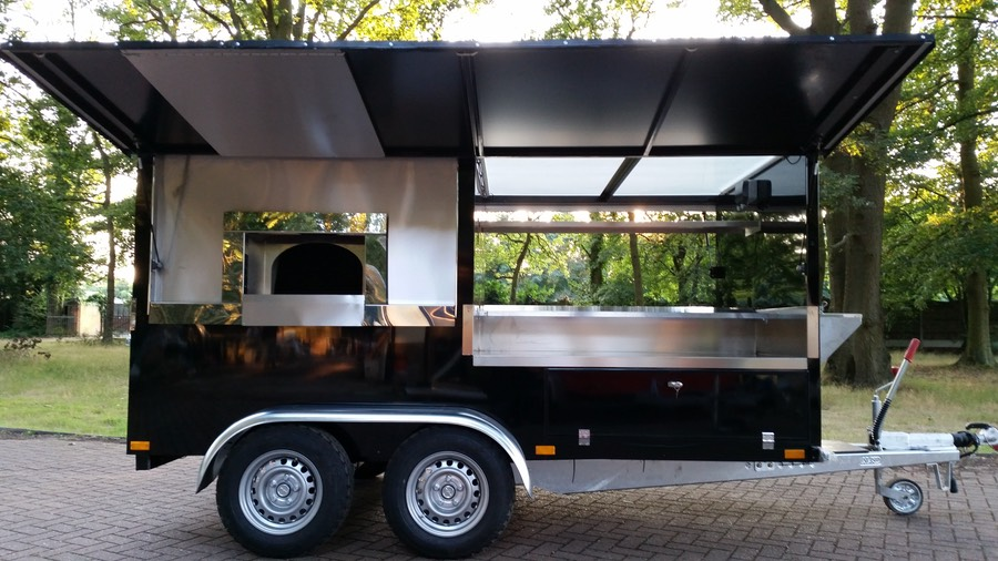 Each Drago PLUS Wood Fired Pizza Caterer Is Equipped With A Large Rear Access Door To Ultra Huge Storage Locker All You Tools Water Supplies And