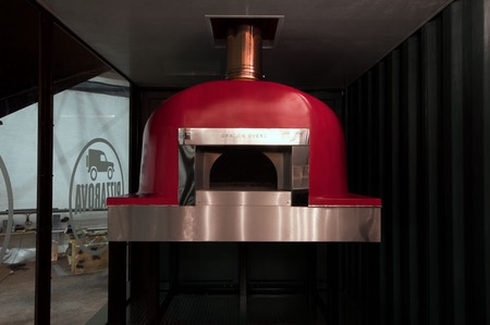 Shipping Container Trailer >> Shipping Container Conversion | DRAGON OVENS